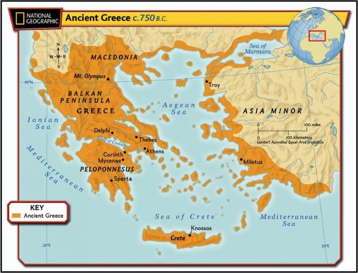 Anticka Grcka Filozofija Kartica Geografska Karta Anticke Grcke