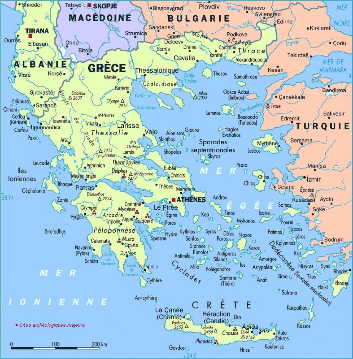 Karta Grcke Detaljna Karta Grcke Juzna Europa Europa