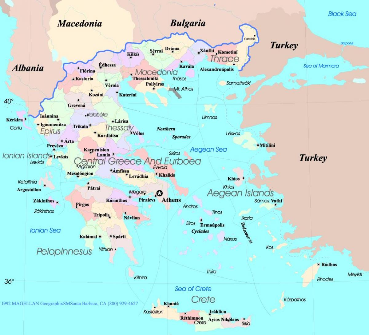 karta grčke Karta Grčke i otoka   Grčka otoka kartica (Južna Europa   Europa) karta grčke
