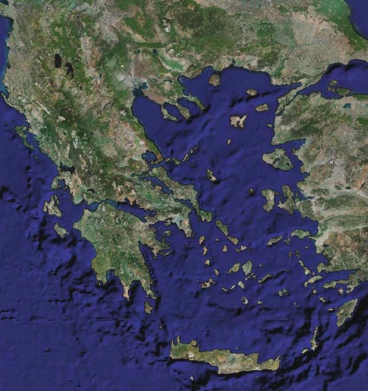 Grcka Satelitske Kartice Kartice Sa Satelita U Grckoj Juzna
